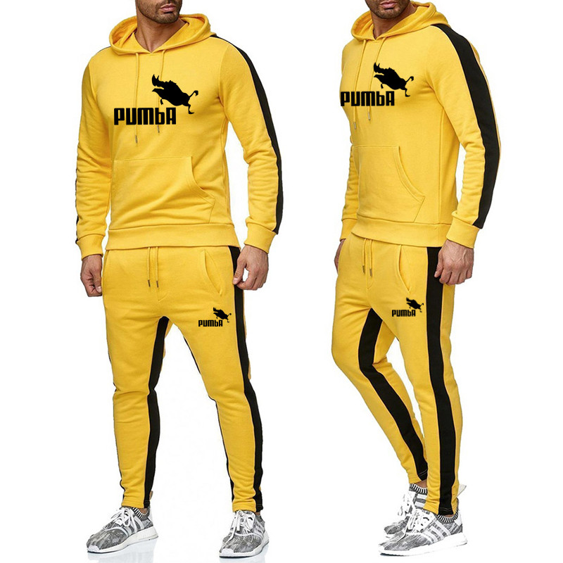 New Trend Hot Brand Fashion Men Sportswear Print Men Hoodies Pullover Mens Tracksuit Sweatshirts Clothing Mens Tracksuits Set