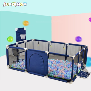 Baby PlayPen Portable Pool Balls Fencing For Children Folding Child Safety Fence Barriers Newborn Travel Basketball Hoop(China)