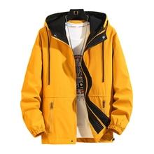 New Jacket Men Coat Fashion Hip Hop Windbreaker Coats Casual Loose Hooded Mens Cargo Bomber Jackets and Coats Outwear Streetwear