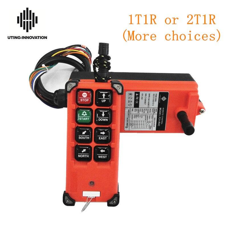Commutateurs sans fil industriels de F21-E1B de télécommande de grue pour la grue d'ascenseur de contrôle de grue de grue ca 380V 220V 36V 12V 24V