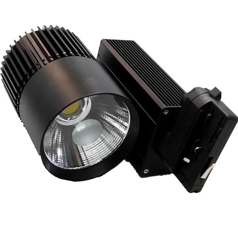 Track Lighting Rail Lamp Spot 30W 40W 50W COB Clothing Shoes Shop Store Track Lights LED Rail Spotlight 4 wire 3 phase