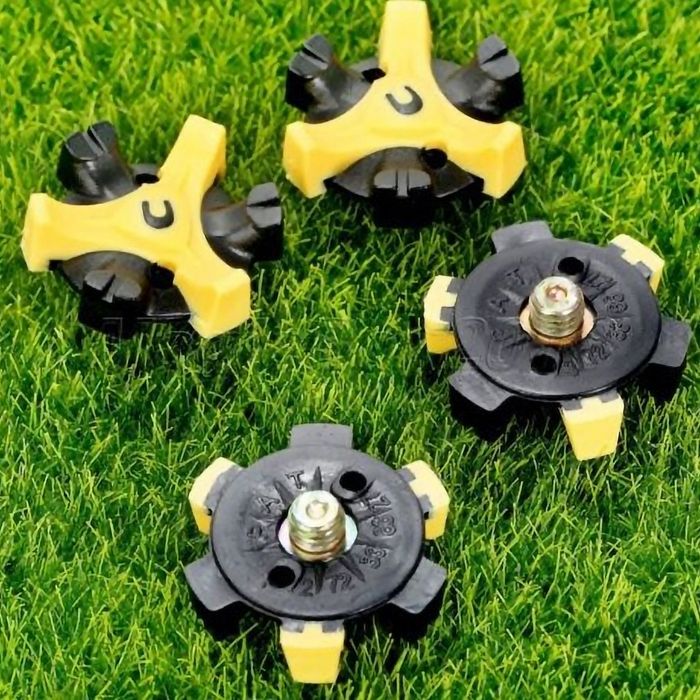 14PCS Golf Cleats Fast Twist Tri-Lok Shoe Spikes Screw Studs Accessories Anti-slip Golf Shoes Spikes Golf Training Aids