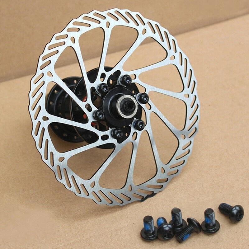 Mechanical Disc Brake Caliper MTB Bike 160//180mm Rotor Disc Brake 6 Bolts Rotor