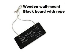 Купить с кэшбэком 1pcs/lot Cute DIY Multifunction Stationery Office Supplies Wooden Square With Rope Blackboard For School And Office