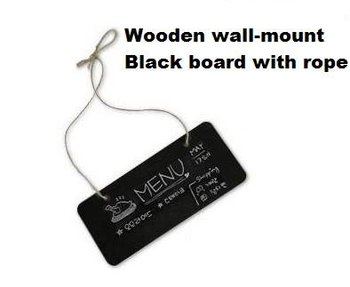 цена на 1pcs/lot Cute DIY Multifunction Stationery Office Supplies Wooden Square With Rope Blackboard For School And Office