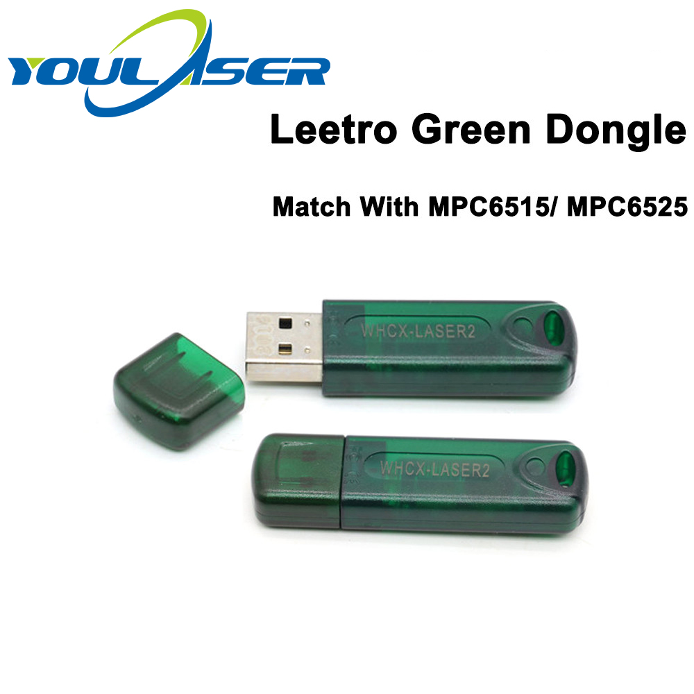 Leetro Green USB Dongle USB Key Laser Cut 5.3 Dongle For Co2 Laser Engraving Control System Leetro Controller MPC6515 MPC6525