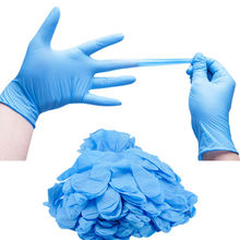 Disposable Gloves Nitrile Laboratory Kitchen Household 100PC Free Latex for Waterproof-Powder