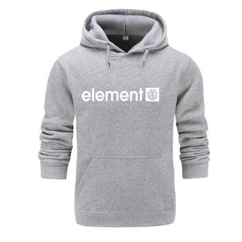 New 2019 Autumn Winter Brand Mens Hoodies Sweatshirts Men High Quality ELEMENT Letter Printing Long Sleeve Fashion Mens Hoodies 2