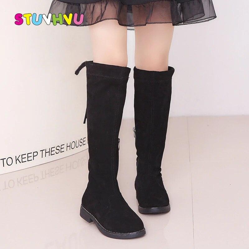 New Fashion kids boots princess girls high-leg boots children/'s snow high boots