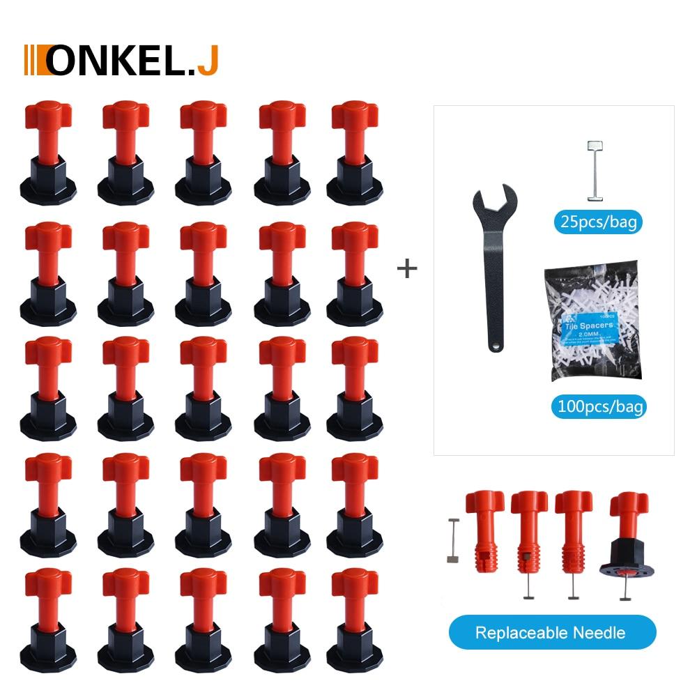 ONKEL.J Reusable Wall Tile Leveling System Toolkit Leveler Wedges Tile Spacers For Flooring Wall Tile Carrelage Leveling System