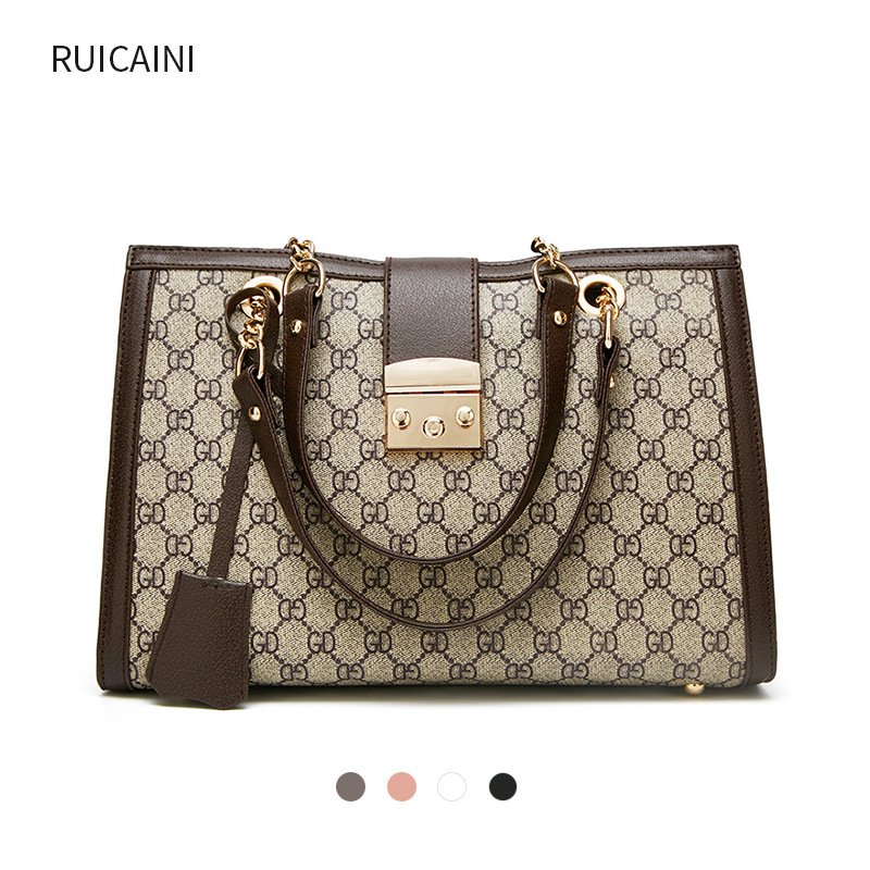 [Activity GU Home Suo Kou Bao Women's Travel Toth Large Bag Spiraea Chain Shoulder Oblique Handbag