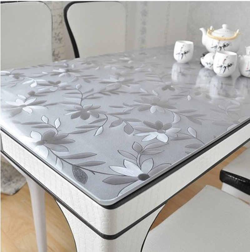 สำหรับงานแต่งงานห้องครัวห้องรับประทานอาหารตารางหน้าแรกตกแต่งห้องนั่งเล่นชาผ้าปูโต๊ะ 1 pcstrasparent ผ้าปูโต๊ะผ้าปูโต๊ะ PVC