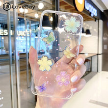 Lovebay Glitter 3D Flowers Butterfly Phone Case For