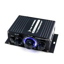 AK170 12V Mini Audio Power Auto Verstärker Digital Audio Empfänger AMP Dual Kanal 20W + 20W Bass treble Volume Control für Den Heimgebrauch
