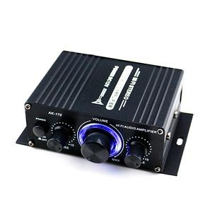 Image 1 - AK170 12V Mini amplificador de Audio para coche, receptor de Audio Digital AMP doble canal 20W + 20W bajo triple Control de volumen para uso en el hogar