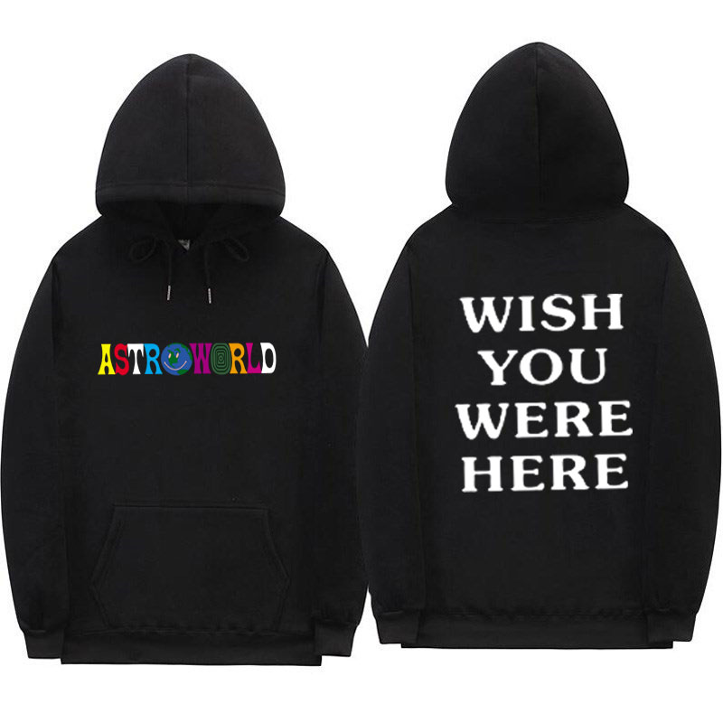 Travis Scotts ASTROWORLD Hoodies Man Woman The Embroidery Letter Print Swag WISH YOU WERE HERE Hoodie 2020 New Style