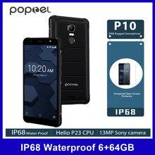 Poptel P10 4G telefon komórkowy IP68 wodoodporna Octa Core 64G 6G 13MP Cam 5.5 Cal telefon komórkowy NFC linii papilarnych odblokować 3600mAh smartfon