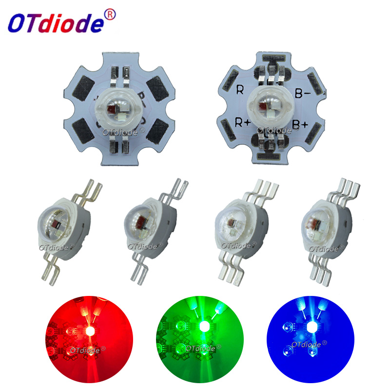 High Power 9W 6pin RGB LED Chip Red Green Blue LED Epistar 45mil LED Chip LED Lamp Emitter Diodes Colorful For DIY Stage Light