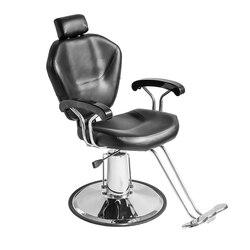 Panana Pro barbería tienda silla para Barbero o salón tatuaje belleza enhebrado afeitado PU cuero y acero inoxidable