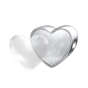 DALARAN, милая собачья лапа, принт в виде сердца, бисер для изготовления ювелирных изделий, 925 пробы, серебряный шарм, оригинальный браслет Pandora, изящное ювелирное изделие