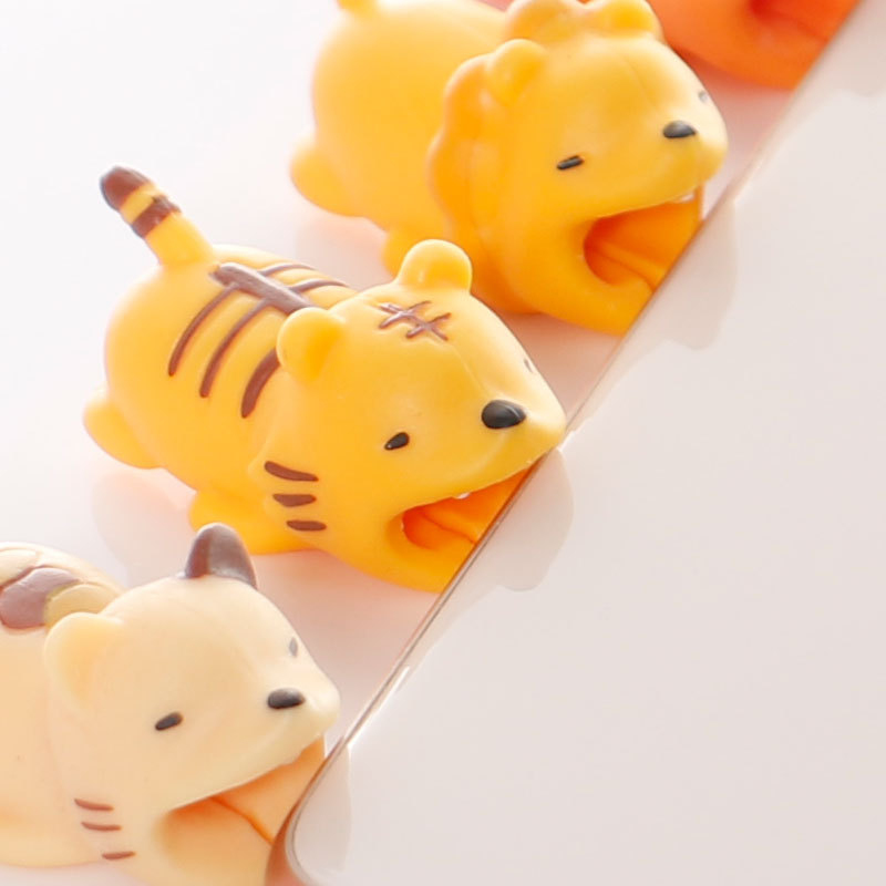 Cable Protector Cartoon Animal Cable Organizer Phone Charger Protector Cable Management Data Cable Sleeve Cable Winder