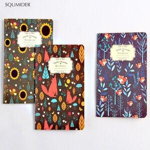3pcs/lot Kawaii Flower Diary Sketchbook Bullet Journal Kraft Paper Notebooks For Kid Girl School Office Supplies Stationary