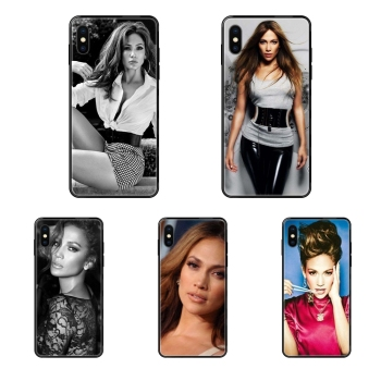 Black Soft TPU Print Cover Case Usa Pop Star Sexy Jennifer Lopez Pattern For Apple iPhone 11 12 Pro X XR XS MAX 5 5S 5C SE 6 6S image
