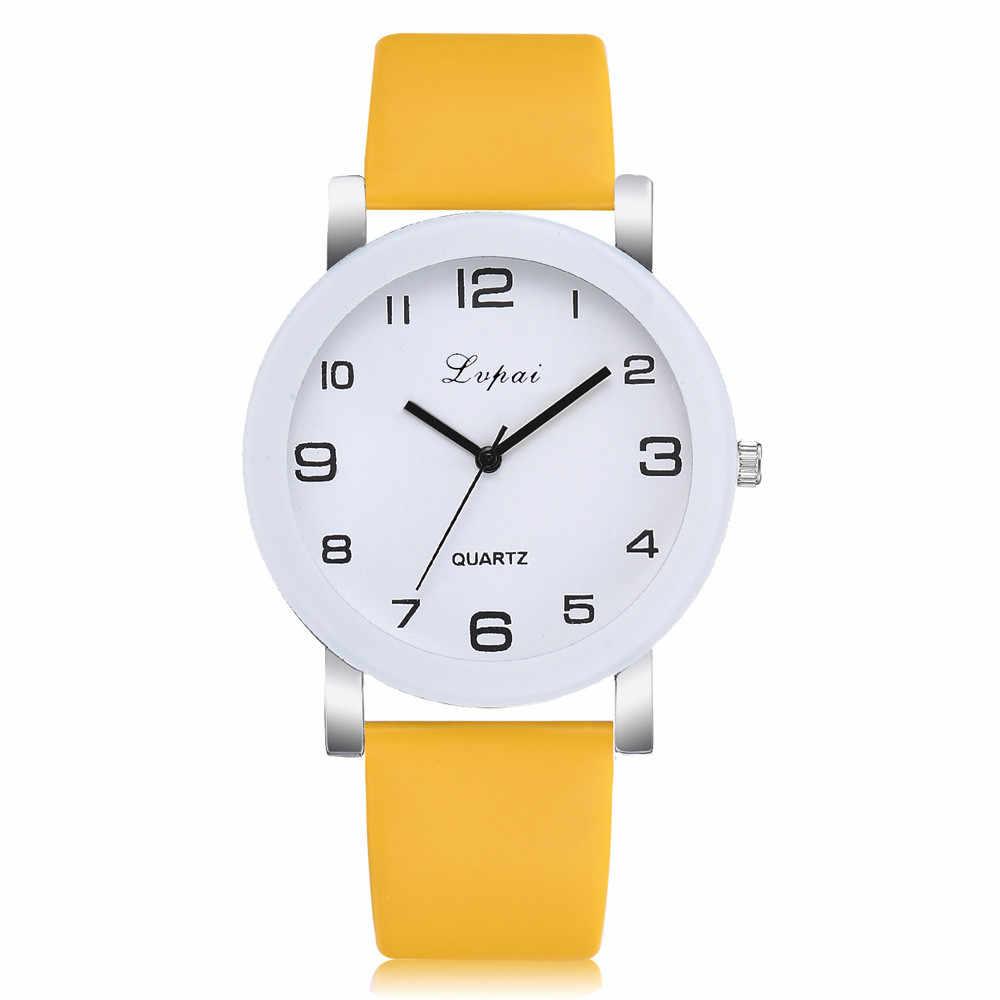 Kadın saatler kuvars yüksek kaliteli Reloj Mujer deri Band Analog Relogio Feminino saat Zegarek Damski yeni