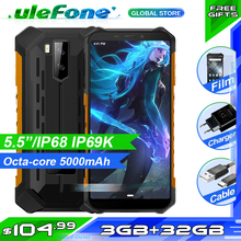 Ulefone Armor X5 IP68 Rugged Waterproof Smartphone MT6762 Octa core Android 10.0 Cell Phone 3GB 32GB NFC 4G LTE Mobile Phone