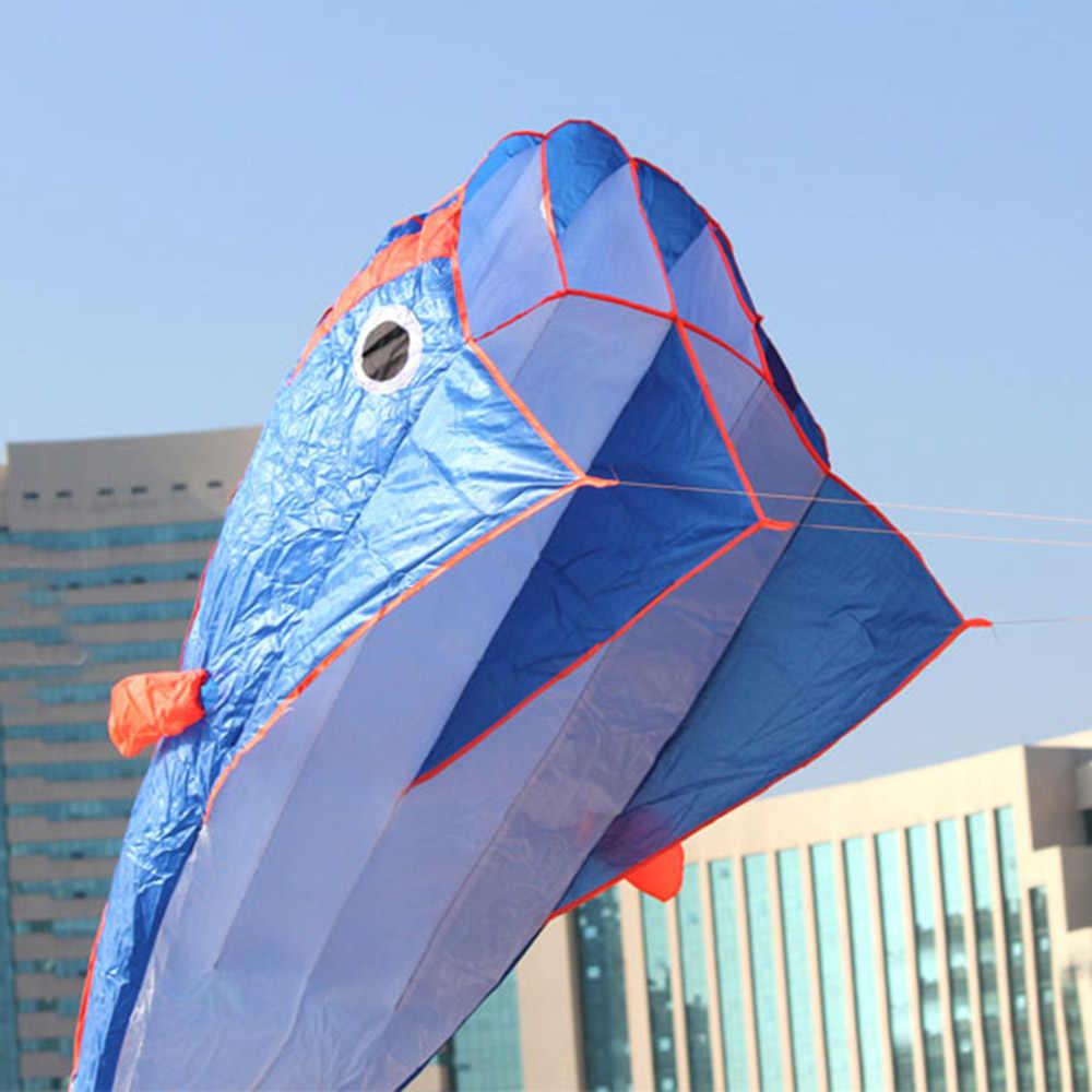 3D Forma Bonito Dolphin Pipa Enorme Frameless Parafoil Pipa com Linha Punho Macio Esportes Ao Ar Livre Voando Pipa fácil de Jogar
