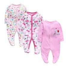 3Pcs/lot Newborn Baby boy Romper Set Winter 0-12M girl Jumpsuit Clothes 100% Cotton Infants Warm Clothing High Quality kids