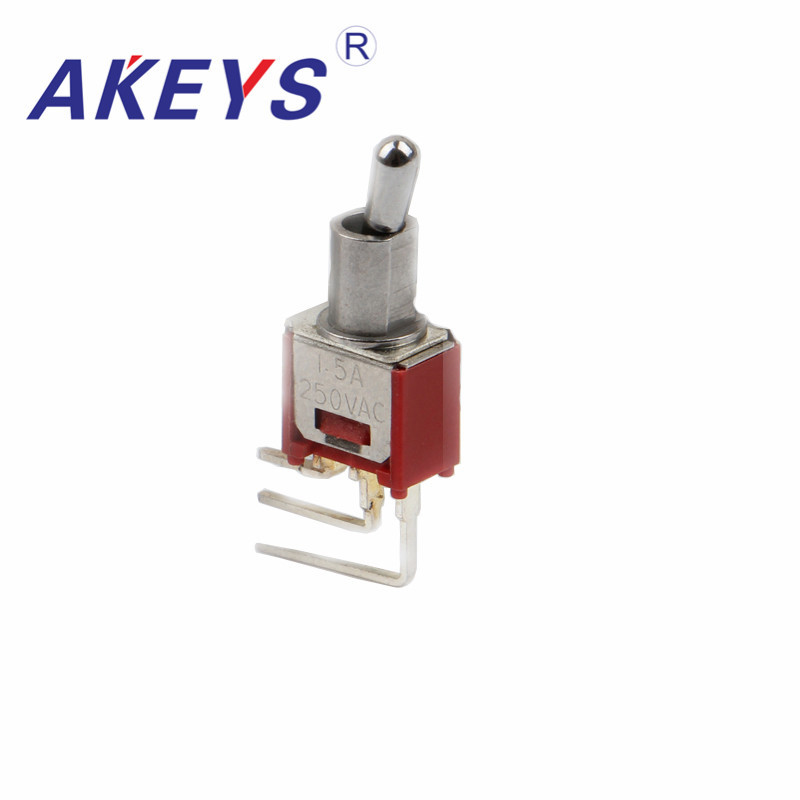 1PC Toggle Switch SMTS-102-C4B-N0 Angle 90 Degrees 2T3P Power/toggle Switch