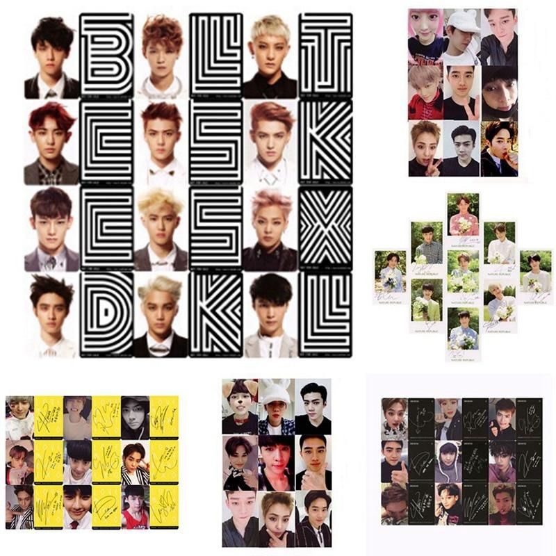 Youpop KPOP EXO K M точный LOTTO Plant 3 EXACT альбом самодельные бумажные карты K-POP Подпись LOMO Фотокарта