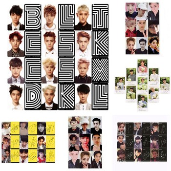 Youpop KPOP EXO K M EXACT LOTTO Plant 3 EX'ACT Album Self Made Paper Cards K-POP Signature LOMO Photo Card Photocard - discount item  7% OFF Printing Products