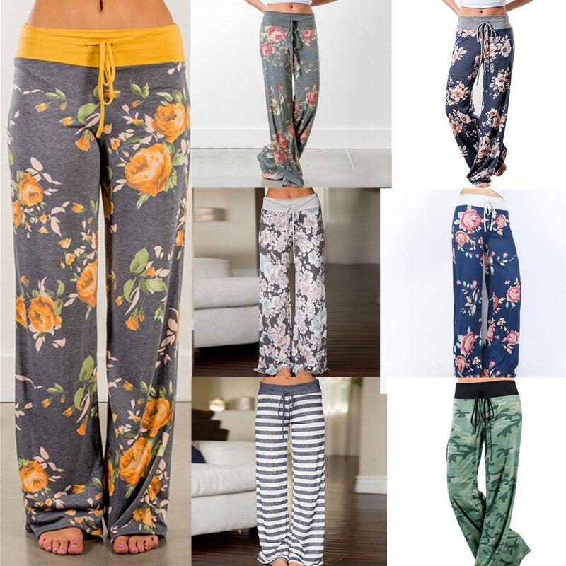 Fashion Women Large Plus Size Palazzo Joggers Pants Sports Pants For Women Trousers Wide Leg Pant High Waist Sweatpants Baggy