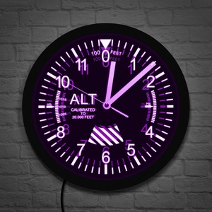 Военный высотомер, отслеживающий светодиодный настенные часы, высотомер, настенные часы, Воздушный самолет, высотомер, инструмент, стильны...