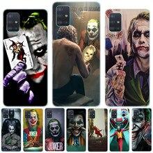Mroczny rycerz Joker Karta miękki silikonowy pokrowiec do Samsung A01 A51 A71 A81 A91 S20 Plus S20 Ultra uwaga 10 Lite Pro miękka TPU okładka