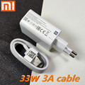 Зарядное устройство xiaomi 33 Вт, быстрая зарядка, 27 Вт, 3 А, кабель Type-C для xiaomi 9 pro, mi 10 pro, 10x, note 10 lite, mi 9, K30 PRO