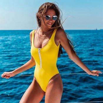 New Sexy Zipper One Piece Swimsuit Women Swimwear Push Up Monokini Bodysuit Swimsuit Print Bathing Suit Summer Beachwear XL 23