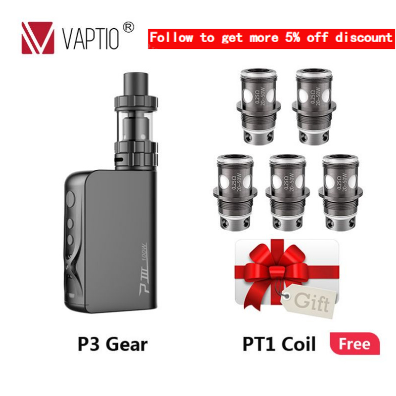 Vaptio P3 GEAR Vape KIT With 100W Built-in Battery 3000mAh Mod  2.0ml TANK