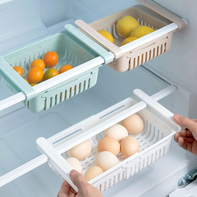 Adjustable elastic organizer for the refrigerator  3