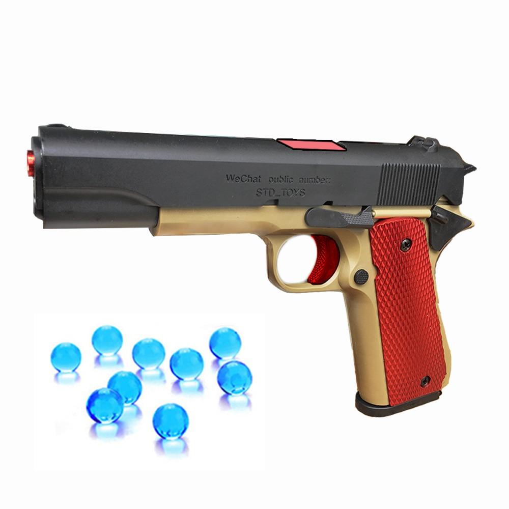 Plastics Toy Gun M1911 1:1 Model Guns Cannot Shoot Military Fans Collection Boys Weapon Rifle Pistol Toys for Children Birthday 1