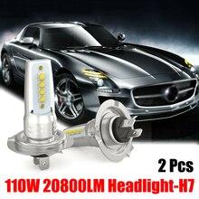 цена на 2pcs H7 Car LED Headlight Headlamp Bulbs Conversion Kit High/Low Beam 110W 10000LM Super Bright Car LED Headlight/Fog Lights