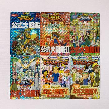 6 sztuk zestaw DIgimon cyfrowy potwór formuła książki zabawki Hobby Hobby kolekcje kolekcja gier Anime tanie i dobre opinie BENQING 14 lat i więcej 5-7 lat Dorośli
