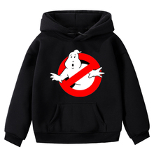 Print Ghostbuster Hoodies Children Boy Girl Clothes Long Sleeve Thicked Sweatshirt Kids Casual Tops Winter Warm Tracksuit Hooded 2017 winter new christmas kids clothes cute red baby girl pullover warm cotton boys hoodies sweatshirt children tracksuit tops