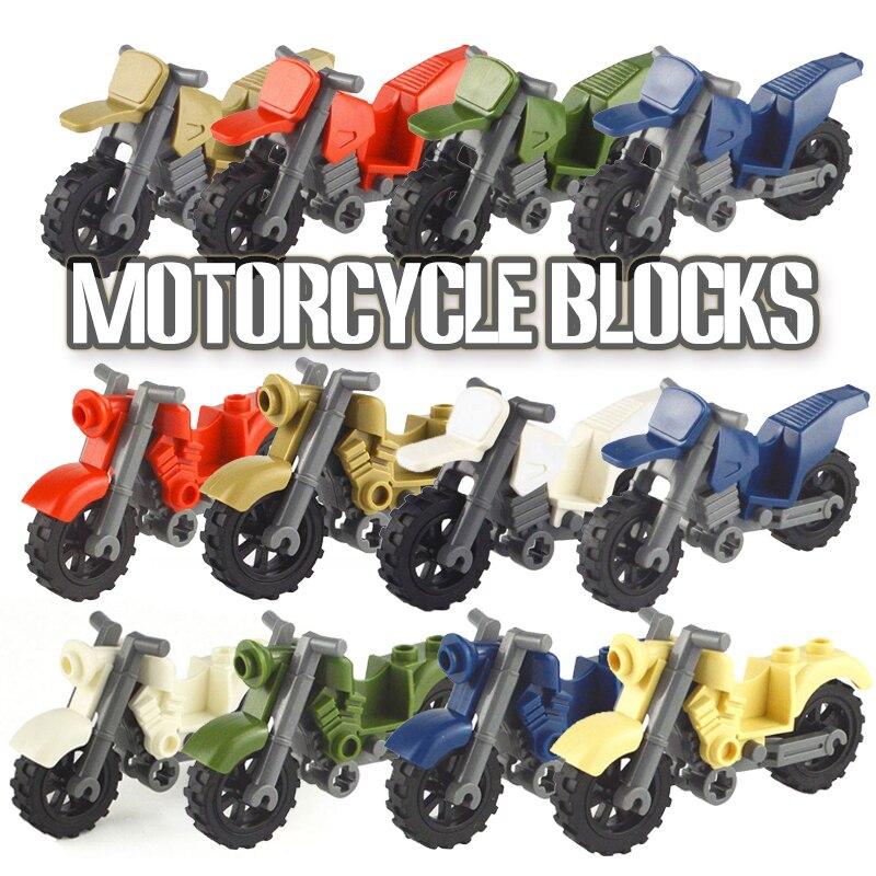 Hot City Blocks SWAT MOC Motor Vehicles Motorcycle Building Blocks Toys For Children Assemble City  Motor Parts
