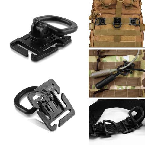 16Pcs/lot Tactical Gear Clips Molle Attachments Elastic String Strap 360 Rotation D-Ring Clips Accessory for Pouch Bags Backpack Karachi