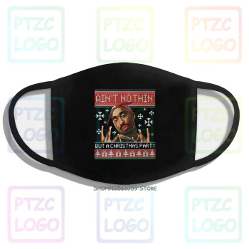 Tupac Ain'T Nothin But A Christmas Party Ugly Christmas Mask image