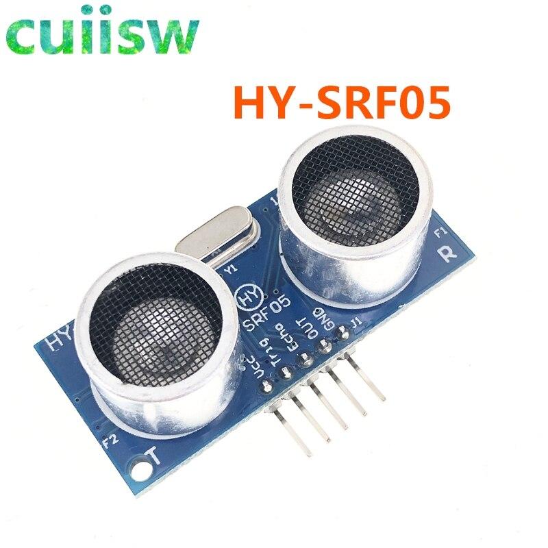 Ультразвуковой Модуль датчика расстояния HY-SRF05 SRF05, 5Pin DC 5В для Arduino UNO, сменный SR04, совместимый интерфейс для электронного кирпича