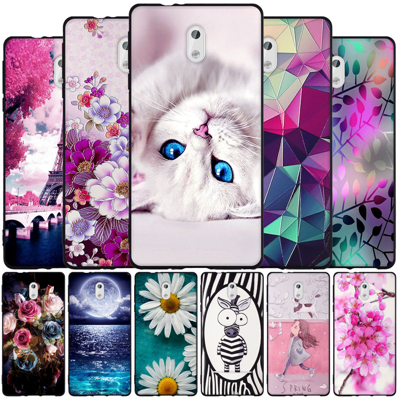 For <font><b>Nokia</b></font> <font><b>3</b></font> <font><b>Case</b></font> Cover ForNokia3 <font><b>Case</b></font> Thin TPU Soft Silicone Back Cover For Nokia3 TA-<font><b>1032</b></font> TA-1020 TA <font><b>1032</b></font> 1020 1038 Phone <font><b>Cases</b></font> image